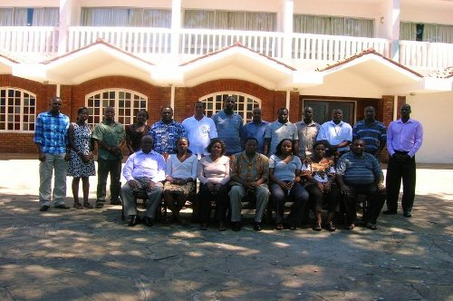 Workshop participants in a group photo