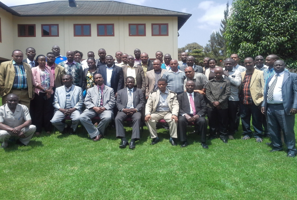 Participants of the 26th Kenya-Tanzania cross border wildlife security meeting in a group photo